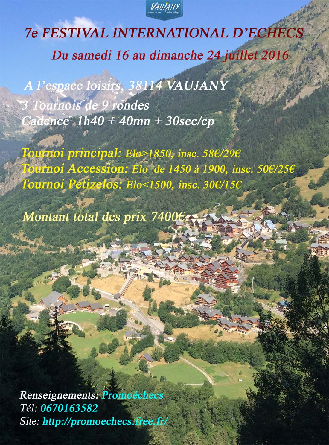 affiche vaujany 2016